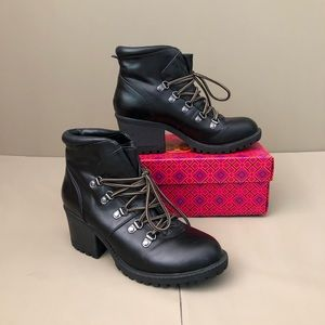 Tama Lace Up Chunky Block Heel Hiker Style Boots
